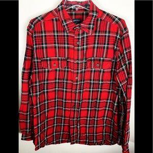 Men or Women over sized flanel shirt
